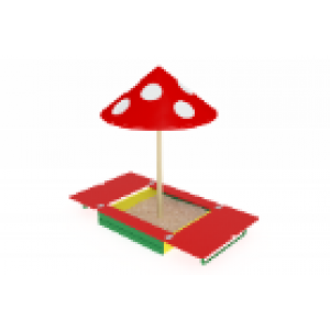 Песочница с крышкой и грибком                                           1220х1300х2100