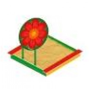 Песочница с навесом Забава - цветок  1800х1700х1500