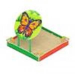 Песочница с навесом Забава-бабочка 1800х1700х1500
