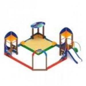 Песочный дворик космопорт с горкой                                           4960х5360х3150