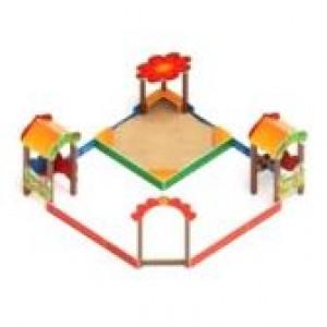 Песочный дворик полянка                                           4380*4360*2000