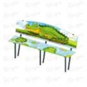 Скамейка детская Крокодил 1840х480х900
