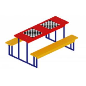 Столик взрослый шахматный 1850*1300*850