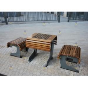 Столик со скамьями для настольных игр