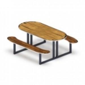 Столик детский овальный Избушка 14801340*625
