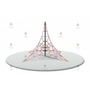Пирамида 6м (красно-серая)