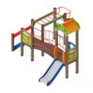 Детский игровой комплекс «Полянка» 4055*3805*3000