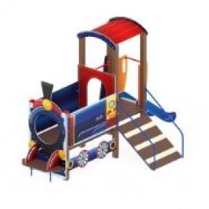 Детский игровой комплекс                          Паровозик Горка 750                                           4060*2030*2700