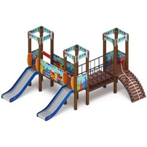 Детский игровой комплекс «Королевство» (Коты) H=900 3910х4740х2650