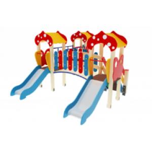 Детский игровой комплекс                         Полянка Горка 750                                           4420*3230*2860