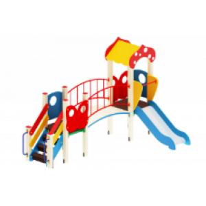 Детский игровой комплекс                           Полянка Горка 750                                           3900х2150*2860