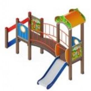 Детский игровой комплекс                           Полянка Горка 750                                           3805*2070*3000