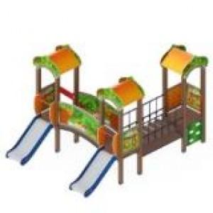 Детский игровой комплекс                         Полянка Горка 750                                           3060*4310*3000