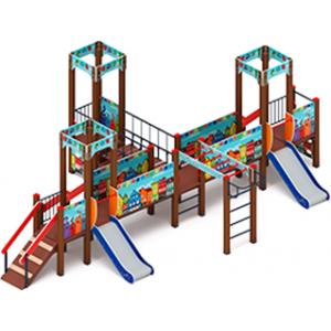 Детский игровой комплекс «Королевство» (Коты) H=750 4980х7670х2650