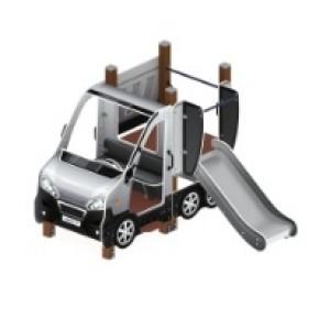 Детский игровой комплекс «Машинка с горкой 1»                                                   2430х2190х1700