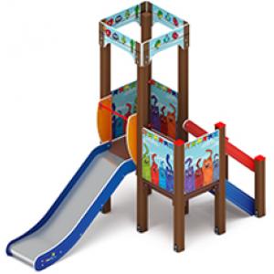 Детский игровой комплекс                           Королевство Горка 900                                           1520х3120х2650