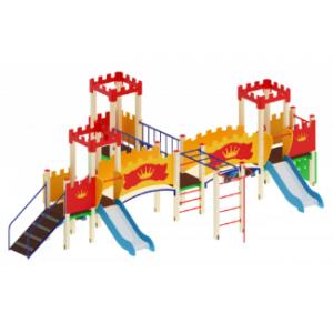 Детский игровой комплекс                           Королевство Горка 750                                           7740*5080*2730