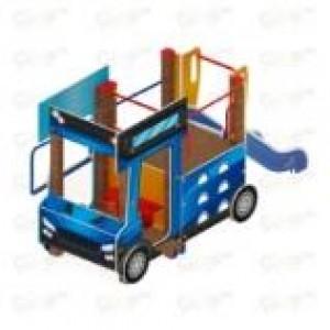 Детский игровой комплекс                           Грузовичок Горка 750                                           3290*2170*1800