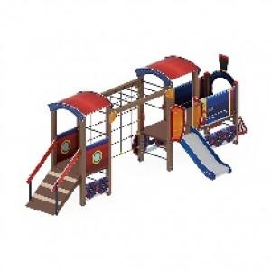 Детский игровой комплекс «Паровозик» H=750 6760*2320*2380