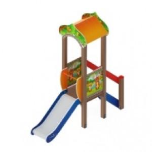 Детский игровой комплекс                           Полянка Горка 750                                           2710*950*3000