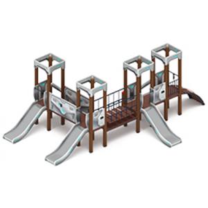 Детский игровой комплекс «Королевство» (Коты) H=900 4610х6940х2650