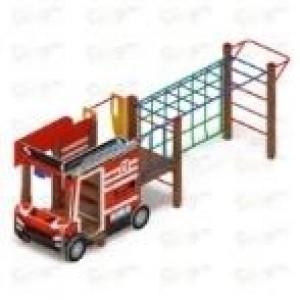Пожарная машина горка Н 750 5170*2400*1800