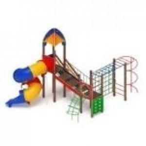 Детский игровой комплекс                          Космопорт Горка-труба                                          6560*4845*5200