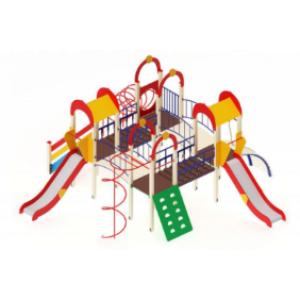 Детский игровой комплекс                           Дворик детства  Горка 1200                                           7300*7140*3000