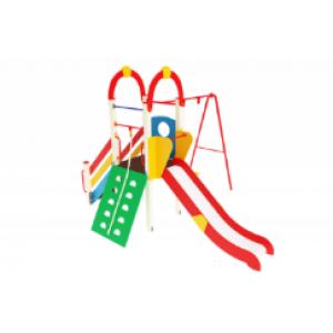 Детский игровой комплекс                           Счастливое детство Горка 1200                                           4370х3910х3000