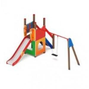 Детский игровой комплекс                           Счастливое детство Горка 1200                                           4190х3830х2500