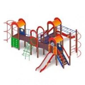 Детский игровой комплекс                           Дворик детства  Горка 1200                                           8170*8040*3000