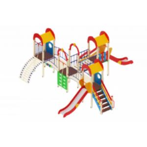 Детский игровой комплекс                           Дворик детства  Горка 1200                                           8080х7200х3000