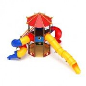Карнавал (горка труба, винтовой скат) горка Н 2000 6700х7900х5230