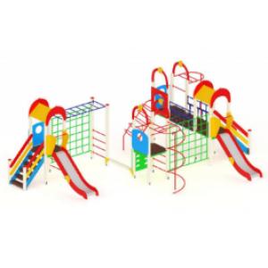 Детский игровой комплекс                           Дворик детства  Горка 1200                                           9080*5900*3000