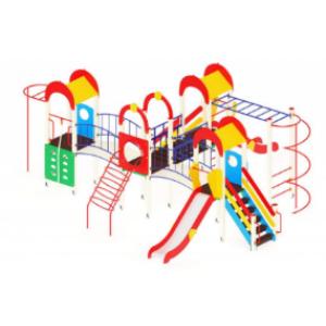 Детский игровой комплекс                           Дворик детства  Горка 1200                                           8340*8550*3000