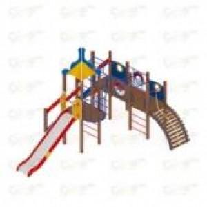 Детский игровой комплекс                          Морской Горка 1500                                           6200х4980х4220