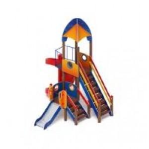 Детский игровой комплекс                           Космопорт  Горка 2000, 750                                           4550*4125*4220