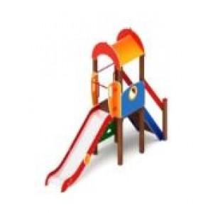 Детский игровой комплекс                            Играйте с нами Горка 1200                                           4090х1100х3000