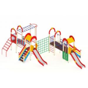 Детский игровой комплекс                           Дворик детства  Горка 1200                                           9300х6830х3000