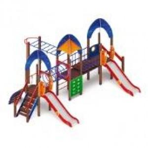 Детский игровой комплекс                           Космопорт Горка 1200                                           7840*5865*3720