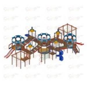 Детский игровой комплекс                           Морской Горки 1200, 2000                                           16330х11850х4450