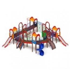 Детский игровой комплекс                           Остров детства Горки 1200, 2000                                           9590х9800х4000