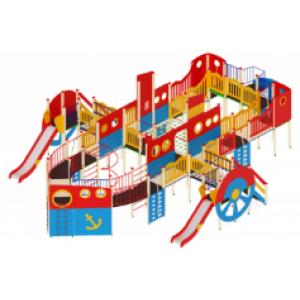 Детский игровой комплекс                           Пароход Горки 1200, 1500, 2000                                           15100х9640х4000