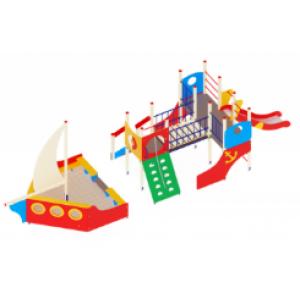Детский игровой комплекс                           Парусник Горка 1200                                           10490х2960х3500