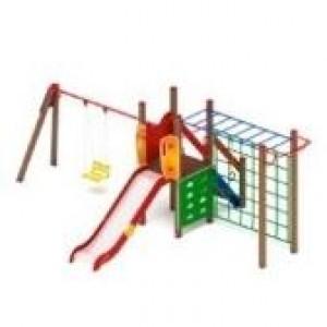 Детский игровой комплекс                           Счастливое детство Горка 1200                                           6600*4090*2500