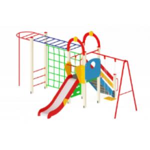 Детский игровой комплекс                           Счастливое детство Горка 1200                                           4370х6230х3000