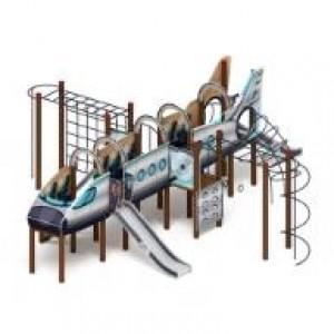 Детский игровой комплекс                           Аэроплан  Горка 1200                                           9850х8350х3500