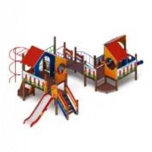 H=1200 Детский игровой комплекс «Теремок» 10050х6060х3300