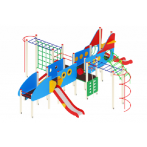 Детский игровой комплекс                           Аэроплан  Горка 1200                                           9920х8350х3500