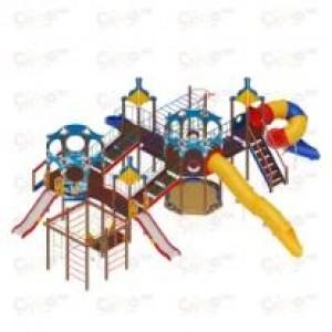 Детский игровой комплекс                           Морской Горки 1200, 2000                                           13970х11380х4450